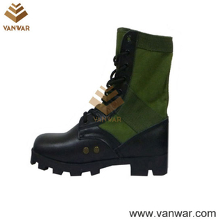Olive Green Jungle Military Boots with Steel Toe Cap (WJB012)