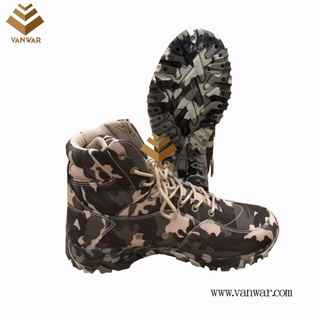 Zipper Military Camouflage Boots with High Quality Insoles (WDB058)