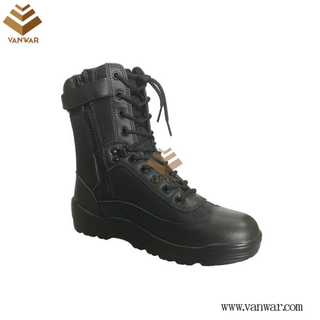 Leather Black Military Combat Boots with High Quality (WCB054)