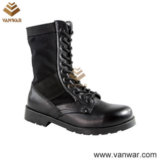 Male Black Jungle Military Boots in Athletic Cement (WJB006)
