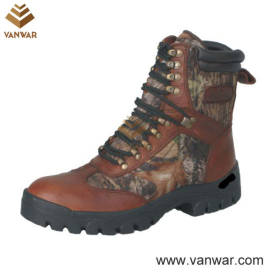 Unisex Tumbled Leather Waterproof Hunting Boots (WHB007)