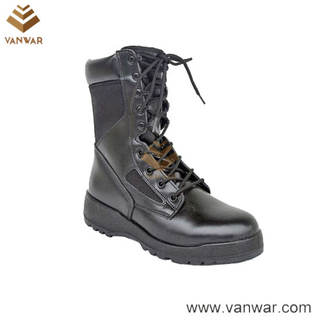 Comfortable Leather Military Tactical Boots of Black (WTB039)