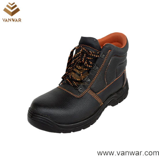 Abrasion Resistance Cow Leather Military Working Safety Boots (WWB052)