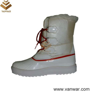 Russian Cemented White Snow Boots for Women (WSCB014)