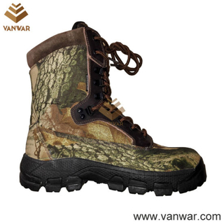 Waterproof Canvas Military Camouflage Hunting Boots (WHB010)