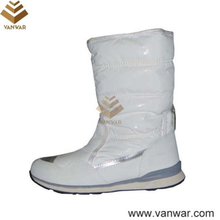 White Cemented Russian Snow Boots (WSCB017)