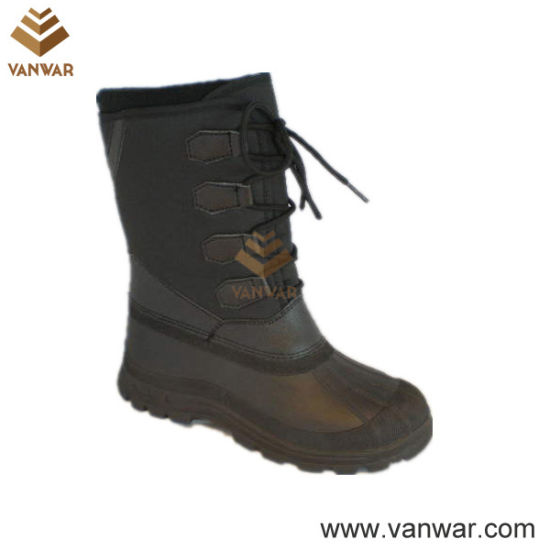 Stiched Snow Boots with TPR Waterproof Outsole (WSB022)