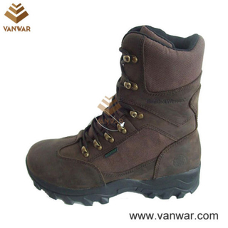Slip-Resistant Brown Nylon Military Hunting Boots (WHB003)