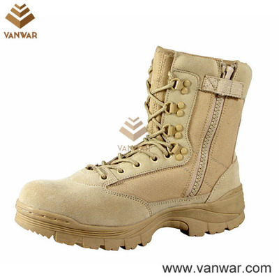 Hot Sale Side Zipper Military Desert Boots (WDB021)