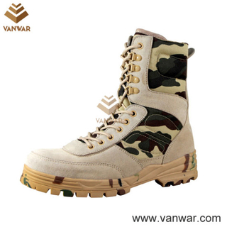 Athletic Cement Camouflage Military Desert Boots with Speedhooks (CMB004)