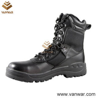 Durable Waterproof Military Tactical Boots of Black (WTB002)