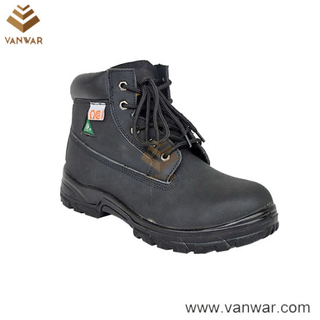 Abrasion Resistance Cow Leather Military Working Safety Boots (WWB055)