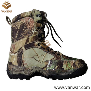 Camouflage Canvas Military Hunting Boots of New Design (WHB009)