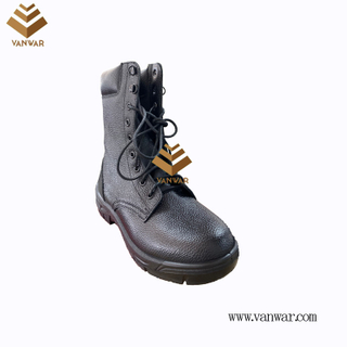Military Combat Boots of Black with High Quality (WCB072)