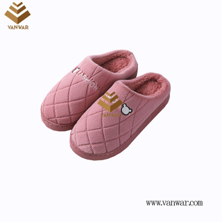 Customize Indoor Cotton lovely design Slippers with High Quality (wis046)