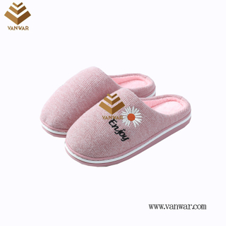 Customize Indoor Cotton lovely design Slippers with High Quality (wis031)