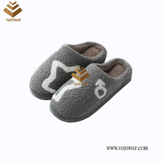 Customize Indoor Cotton lovely design Slippers with High Quality (wis047)