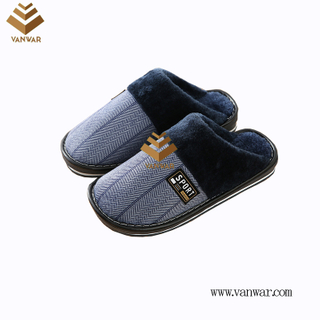 Customize Indoor Cotton winter Slippers with High Quality (wis067)