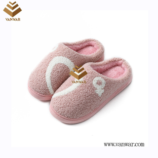 Customize Indoor Cotton lovely design Slippers with High Quality (wis044)